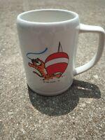 Vintage 1983 Seoul Korea Olympic OB Beer Mug Stein Cup Olympics Sailing  Hodori