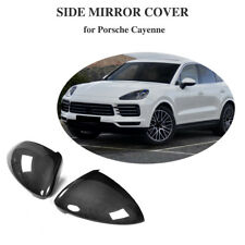 Fits Porsche Cayenne Carbon Fiber Mirror Cover Caps Add On Style 18-19