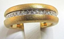 Giorgio Visconti Italy 18 KT Rose Gold Matt Finish with Diamonds Ring size 7.25