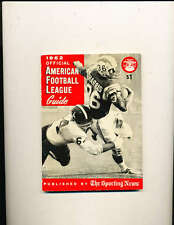 1962 afl american football league Guide TSN em clean chargers