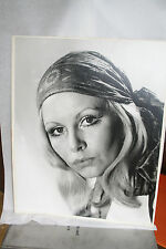 "HUGE Black & White Competition Photograph Print BUTTERWORTH "" HIPPIE LIPS 1970"