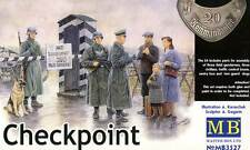 Masterbox German Checkpoint Grenzkontrolle House Dogs Civil 1:35 Häuschen Hunde