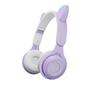 Wireless Cat Ear Headphones Bluetooth Headset LED Lights Earphone Kids Children