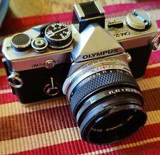 Olympus OM2n 35mm Camera and 50mm 1.8 Olympus lens working