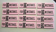 12 NEW LARGE ERASERS FOR GREAT BIG MISTAKES NOVELTY GAG GIFT SCHOOL PARTY FAVORS