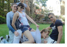 Group Athletic Frat Boys Playing Around w/ each Other Male PHOTO 4X6  P745******