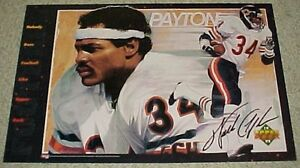 "Vintage '92 WALTER PAYTON #34 Chicago Bears Football NFL Sweetness Poster 34x22"""