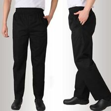2018 Chef Uniform Restaurant Pants Kitchen Staff Trousers Bottoms Men Work Wear