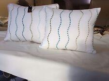 pkt 3 designer cushions embroided jane churchill fabric corduroy Back