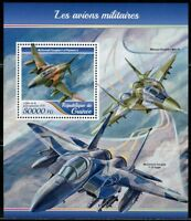 GUINEA 2017  MILITARY PLANES  SOUVENIR SHEET MINT NEVER HINGED