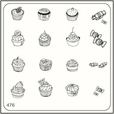 MoYou Nail Fashion Stamping Nail Art Image Plate 476 Trendy Style Sweets