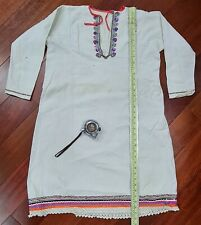 Antique Russian Hutsul folk costume ethnic embroidered linen blouse old 1900s