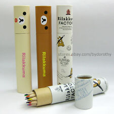 12colors/1set Cute Rilakkuma Color Pencil Light Paper Case Drawing Stationery