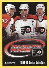 Philadelphia Flyers 1998-99 Hockey Schedule – Lindros, Desjardins Photos –Bud Lt