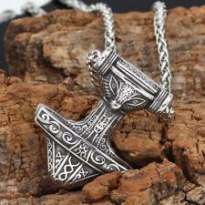 Collar runas Hammer Thor cadena remolque Viking vikingo dios Thor Hammer