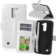 Luxury Flip Wallet Stand Card Slot PU Leather+TPU Cover Case For LG