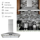 """30"""" Wall Mount Range Hood Stainless Steel Top Vent Filter Touch Control 500 CFM photo"""