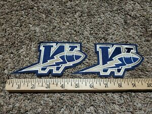 """Lot of 2 Winnepeg Blue Bombers CFL Authentic Jersey BLUE Game Patch Set 6"""" x 3"""""""