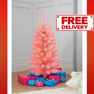 3ft Pink Pre-Lit Christmas Tree