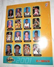 2001 WNBA game roster photo Phoenix Mercury Detroit Shock Katie Smith basketball