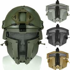 Paintball Airsoft Nylon Helm Maske Sparta Vollmaske Metall Mesh Cover Schutz
