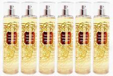 6 Bath & Body Works WARM VANILLA SUGAR Fine Fragrance Mist Body Spray 8 oz