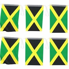 100 Feet Jamaica Flags Banner with String for Jamaican National Day, 80 Flags