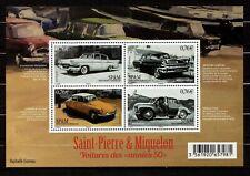 """SAINT-PIERRE  SPM  2015  SOUVENIR SHEET  """" OLD CARS """"   (1602127)"""