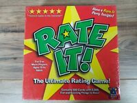 Rate It! The Ultimate Rating Game BOARD GAME! Chillin' Games NEW Sealed!