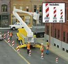 WALTHERS SCENEMASTER HO SCALE CONSTRUCTION LANE MARKER RED/WH 949-4169
