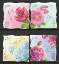P.R. OF CHINA 2020-10 ROSE FLOWERS COMP. SET OF 4 STAMPS IN MINT MNH UNUSED