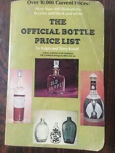 "REFERENCE BOOK ""OFFICIAL BOTTLE PRICE LIST"" BY KOVEL 1971, DESCRIPTION & PRICES"