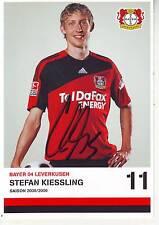 FOOTBALL carte joueur STEFAN KIESSLING équipe BAYER LEVERKURSEN signée