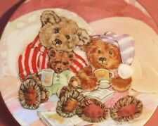 ROYAL WORCESTER BEAR PLATE BEDTIME STORIES DIANE MATTHES TEDDY FAMILY ALBUMS