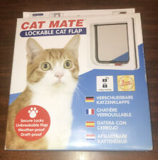 Petmate Cat Mate Lockable Cat Flap White 304W 2 way locking