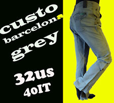 CUSTO Barcelona 40 grey jean pant cargo destroyed deconstructed gray