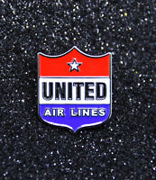 Pin UNITED AIRLINES Retro vintage 1950s logo metal pin pilot crew ground staff