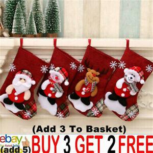 Christmas Stocking Hanging Party Tree Xmas Decor Santa Sock Candy Bags Gift NNL