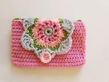 1 Handmade Crochet mobile phone cover, flower, Accessory Gift Idea
