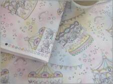 Soft Colors merry-go-round pattern Pink100% Cotton110 x 50 cm - Japanese Fabric
