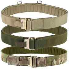 More details for british army plce webbing military roll pin belt - mtp multicam olive green