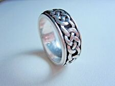 Knots - Size 7 0223 D'Orlan Rhodium Plated Ring with Celtic
