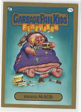 Broad Maud 2014 Topps GARBAGE PAIL KIDS Flashback Series 3 Gold Card #17a