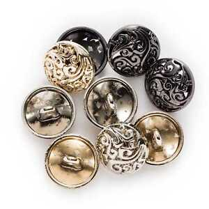 5pcs Hollow Round Metal Buttons for Sewing Clothing Crafts Gifts Card 12.5-25mm