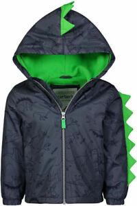 Carter's Boys Dinosaur Fleece Lined Jacket Size 2T 3T 4T 4 5/6 7