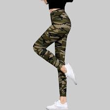Fashion New Womens Camouflage Printed Leggings Elastic Pants Gym Sports Yoga
