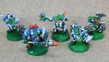 40k Orks metal ORK KOMMANDOS x5 Painted Old Citadel GW 65768