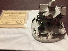 Thomas Kinkade Home for the Holiday Victorian Christmas Sculpture 1996 New in Bo