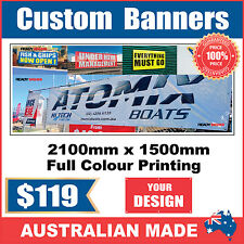 Custom Outdoor Vinyl Banner Sign - 2100mm x 1500mm - Australian Made