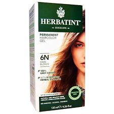 Herbatint Permanent Herbal HairColor Gel 6N Dark Blonde - 135 mL / 4.56 oz